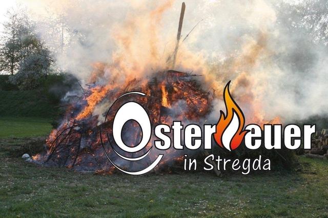 Osterfeuer in Stregda